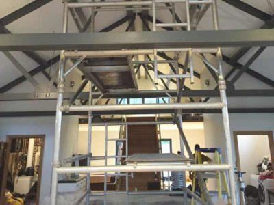 bespoke extractor fan scaffolding