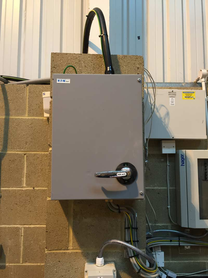 electric circuit box installed by MVB Electrical