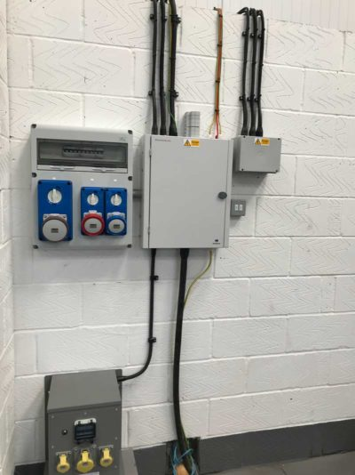 industrial unit electrical box installed by MVB Electrical