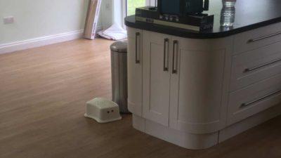 kitchen underfloor heating installed