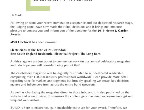 Electricians of the Year – Swindon!