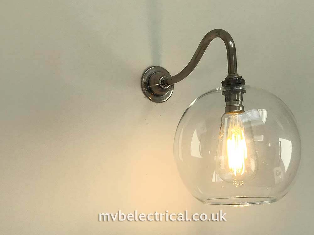 Globe-light on wall installed in by MVB Electrical