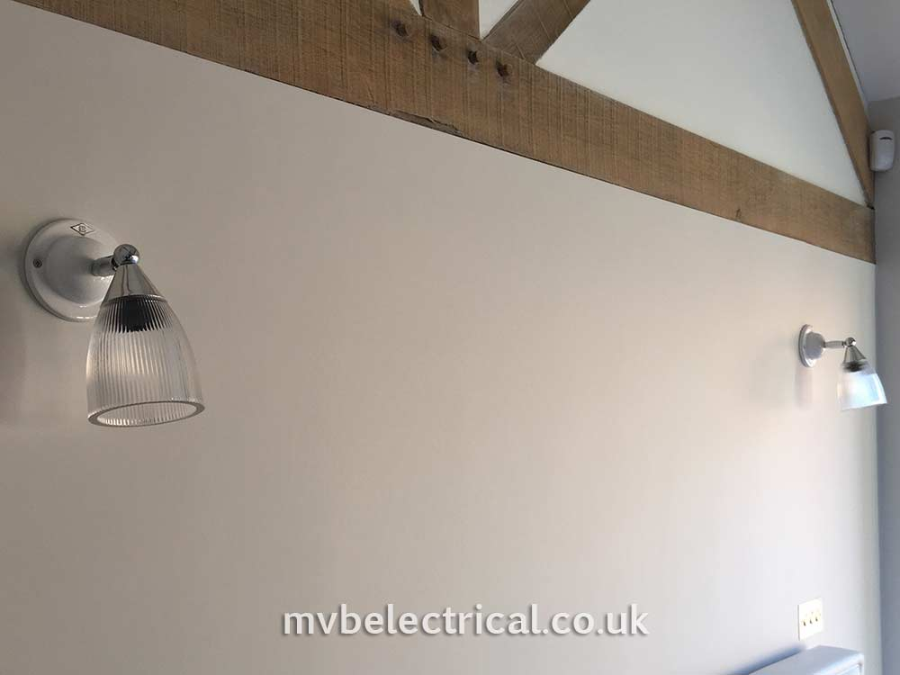 Indoor wall lights installation by MVB Electrical