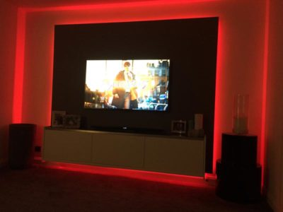 LED strip lights in Swindon Livingroom