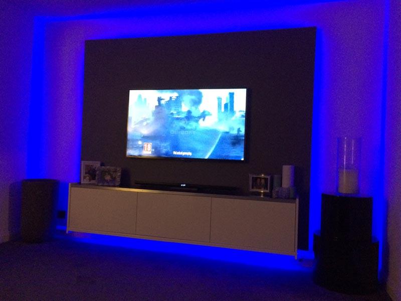 LED strip lights in Swindon Livingroom